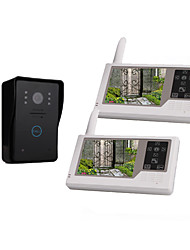 "3.5"" TFT Digital Screen Wireless Video Door (1 Camera with 2 Monitors, Rechargeable Battery)"