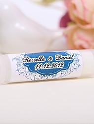 Personlized Lip Balm Tube Favors - Blue (Set of 12)