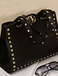 Punk Nail Black Cross-body Bag(22cm*13cm*23cm)