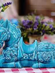 Ceramic Horse Table Decoration in Blue