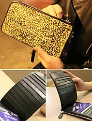 Leopard Wool Card Bag(20.5cm*10cm)