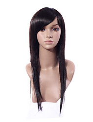 Capless Long Fashion Straight Hair Synthetic Wig Oblique Bang