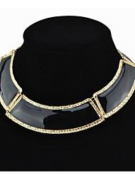 металл чувства женщин черное ожерелье