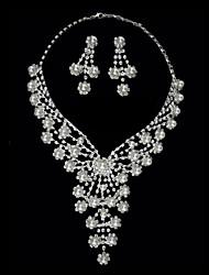 conjunto lindo de strass duas senhoras peça de roupa 'jóias (45 cm)