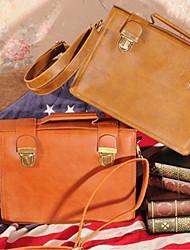 Retro Preppy Chic Box Design Handbag(30cm*14cm*27cm)