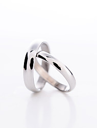 Ring Couples' Platinum Plated Platinum Plated Love 6 / 7 / 8½ / 10 / 11 SilverColor & Style representation may vary by monitor. Not