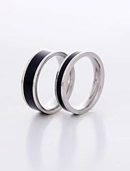 Anéis Casais Aço Inoxidável / Pedaço de Ouro Rose Aço Inoxidável / Pedaço de Ouro Rose Amor 6 / 7 / 8½ / 10 / 11 Como na Imagem