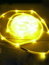 50 LED Yellow Solar Tube Outdoor Lights Garden Yard Decor