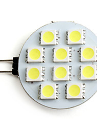 2W G4 Spot LED 10 SMD 5050 80 lm Blanc Naturel DC 12 V
