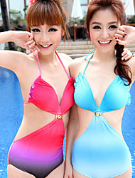 Cut Out Shell One-piece Swimming Suit