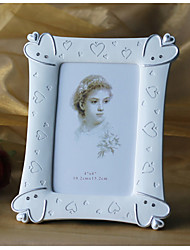 Silver Hearts White Resin Photo Frame – Large
