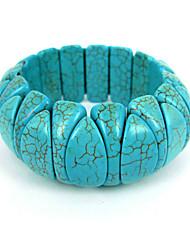 Bracelet turquoise volet chics dames élastiques des