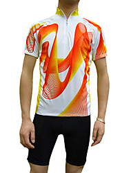 JAGGAD Cycling Tops / Jerseys Men's Bike Breathable / Quick Dry Short Sleeve Polyester / Coolmax Blue / Orange S / M / L / XL / XXL