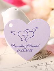 el corazón en forma personalizada etiqueta del favor - el corazón con la flecha (juego de 60)