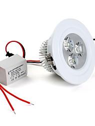 3W LED Recessed Lights / LED Ceiling Lights Recessed Retrofit 3 High Power LED 280 lm Natural White AC 85-265 V
