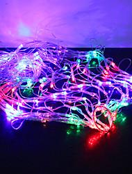 120-luz led 1m colorido 8 modos de ignição em forma de teia de aranha cadeia de fadas lâmpada (220v)