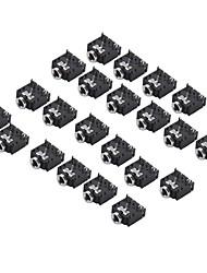 3f07 3,5 milímetros de áudio jack (preto, 20 peças por pacote)