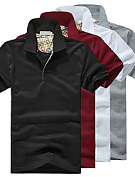 verificador afiado cor sólida forma camisa polo