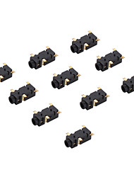 ST-104 SMT Gold plated Audio Jack (10 Pieces a pack)