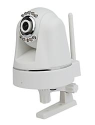 prise h.264 pan tilt & play IR-cut caméra sans fil ip avec le jour fente pour carte SD et la nuit