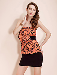 TS Printed Folded Strapless Top