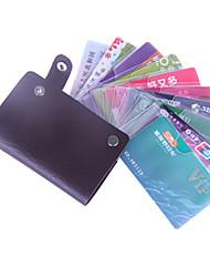 suporte de couro utilitário caso do cartão bolsa (cor aleatória)