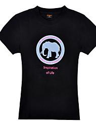 africaine ultraviolet éléphant gaine résistante à court t-shirt