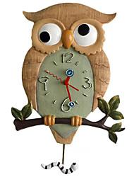 "18.25 ""mur hibou polyrésine horloge h de style moderne"