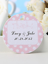 "Personalized Favor Tag - Pink ""Thanks"" (Set of 36)"