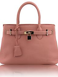 Trendy Golden Lock Handbag(32cm*22cm*11cm)