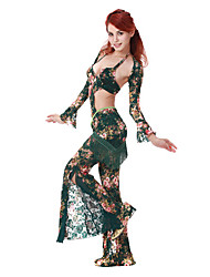 Dancewear Spandex/Lace With Print Belly Dance Outfit For Ladies More Colors