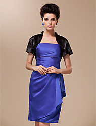 Wedding  Wraps Coats/Jackets Short Sleeve Satin / Silk Black Wedding / Party/Evening High Neck T-shirt Open Front