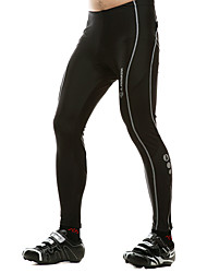 Men's 100% Polyester Cycling Long Pants (Black)