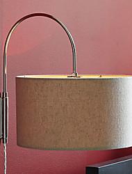 60w contemporânea tecido sombra parede projeto cilindricidade luz