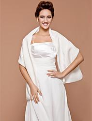 mangas, casaco de pele falso casamento noivas wrap / (0061-16)