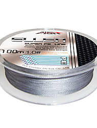 100M / 110 Yards / 300M / 330 Yards / 600M / 660 Yards PE Braided Line / Dyneema / Superline Fishing Line Gray10LB / 15LB / 25LB / 30LB /