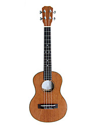 hanknn - (5270) ukulele tenor sólido de mogno com bag / string / picaretas