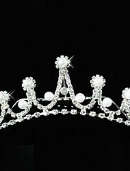 preciosa de la boda de diamante de imitación tiara de la muchacha de flor