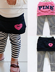Girls Personality Stripe Pocket Culottes