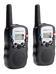 Bellsouth Portable 8-Channel Travel Walkie Talkie T-388 (5KM range 2-Pack Black)