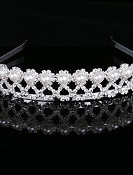 Gorgeous Imitation Pearls In Alloy Tiara