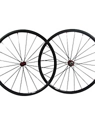 farsport - 24mm de fibra de carbono tubulares de juegos de ruedas de bicicleta de carretera con la Serie M