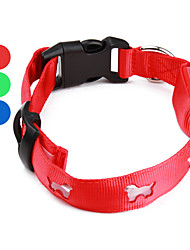 Dog Pattern Style Nylon LED Dog Collar (40-50cm/15.7-19.7inch, Assorted Colors)