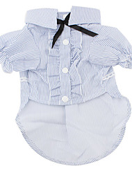 Striped Style Shirt for Dogs (XS-XL, Blue)