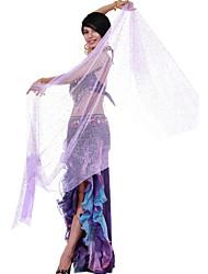 Spandex dancewear el rendimiento de danza del vientre velo para las señoras más colores