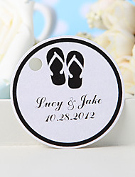 Personalized Favor Tag - Back Slippers (Set of 36)