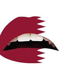 10 Pcs Qatar Temporaty Lip Tattoo Sticker