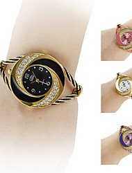 Women's Watch Bracelet Whirlwind Circle Style Gold Alloy
