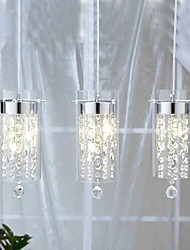 Artistic Crystal Pendant Lights with Glass Shades G4 Bulb Base