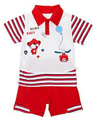 Boys Small Bear Stripe Lapel Suits